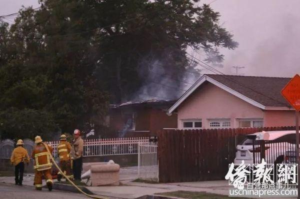 美国圣盖博华人区浓烟四起!一男子与警方互射、纵火烧房被击毙