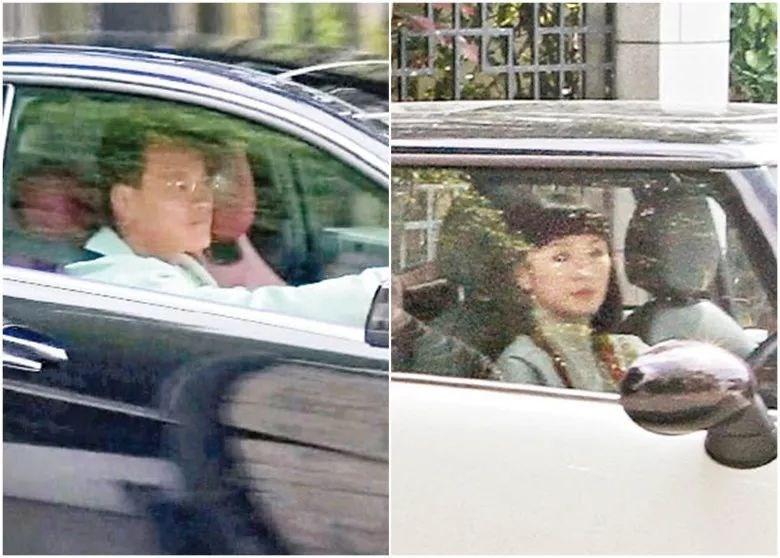 """黎智英次子黎耀恩(左)黎耀恩妻子曾美华(右)图源:香港""""东网"""""""