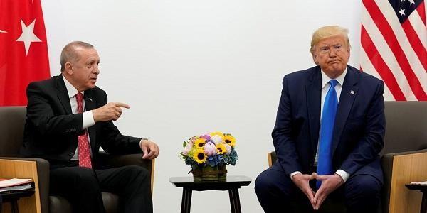 特朗普和土耳其总统埃尔多安(图源:商业内幕网站)