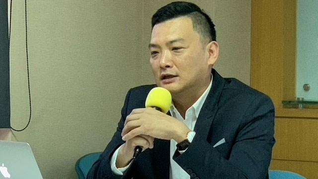 政治大学政治系副教授暨选举研究中心副研究员俞振华认为台湾认同不断上升。(记者 黄春梅摄)