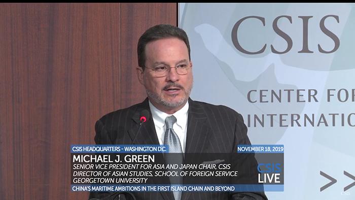 """美国华盛顿智库""""战略与国际研究中心""""副总裁葛林(视频截图)"""