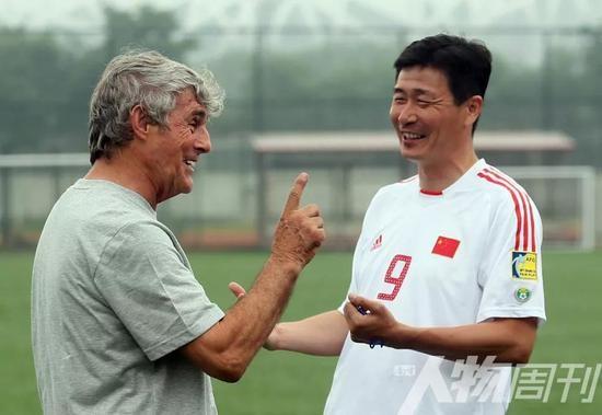 郝海东与米卢教练